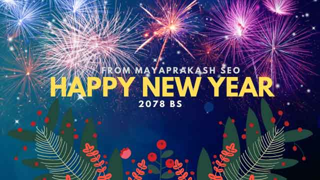 happy new year 2078 bs