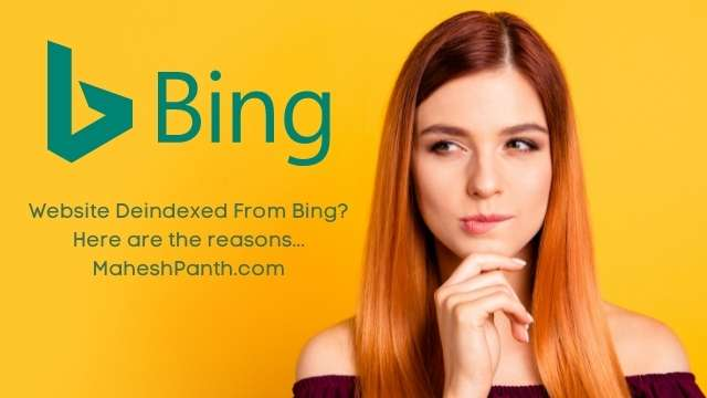 reasons why a website deindexed from bing